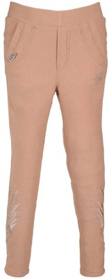LEI CHIE Girl's Beige Jeggings