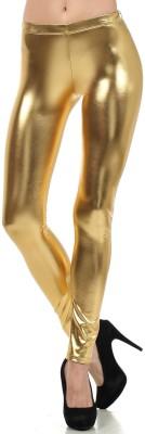 Roma Creation Women's Gold Leggings