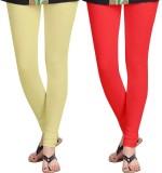 Nova Trendzz Women's Beige, Red Leggings...