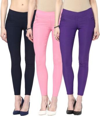 Zea-Al Women's Blue, Pink, Purple Jeggings