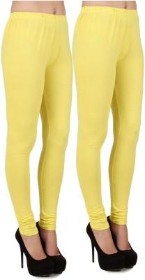 Stylishbae Women's Yellow, Yellow Leggings