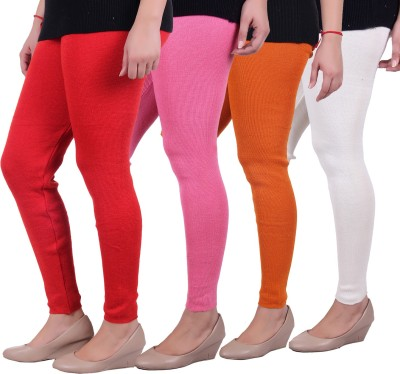 Sellsy Women's Orange, Pink, Orange, White Leggings