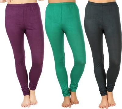 SLS Women's Purple, Green, Dark Green Leggings