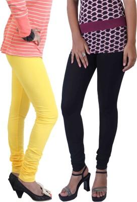 StyleJunction Women,s Yellow, Black Leggings