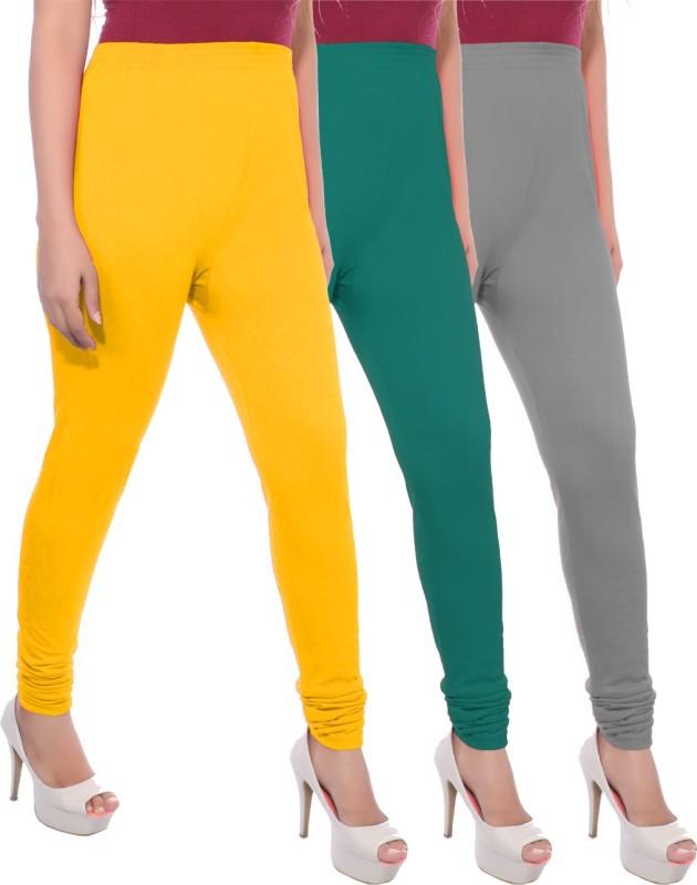 Apple Knitt Wear Women's Maternity Wear Yellow, Green, Grey Leggings(Pack of 3)