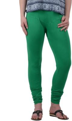 American-Elm Women's Green Leggings