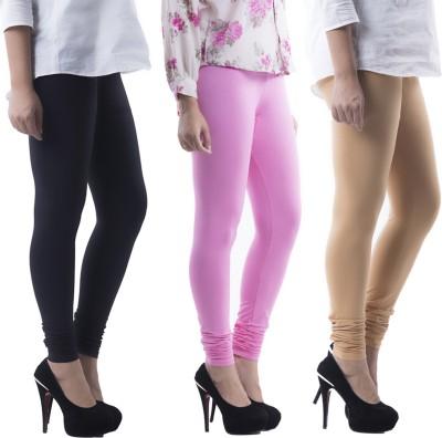 Prashil Women's Black, Pink, Beige Leggings