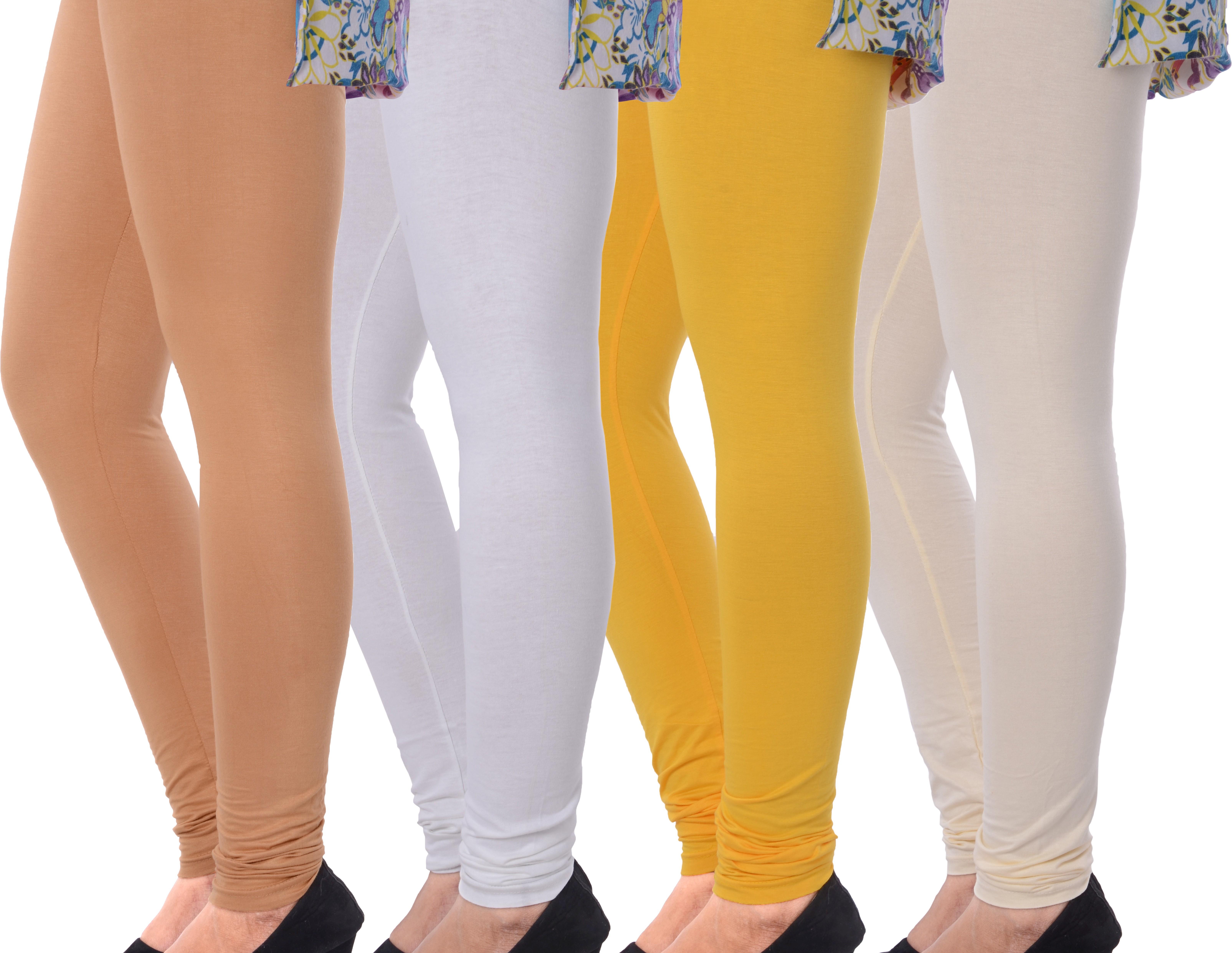 Grafion Womens Multicolor Leggings(Pack of 4)