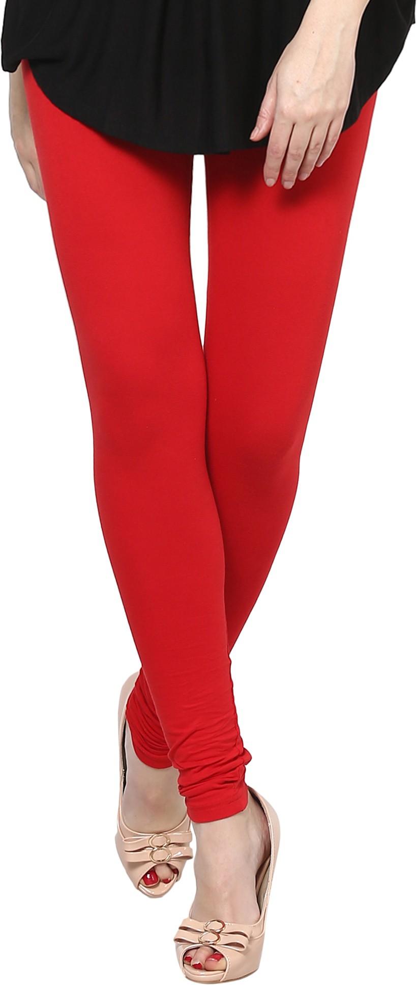 The Gud Look Womens Red Leggings