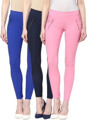 Zea-Al Women's Blue, Blue, Pink Jeggings