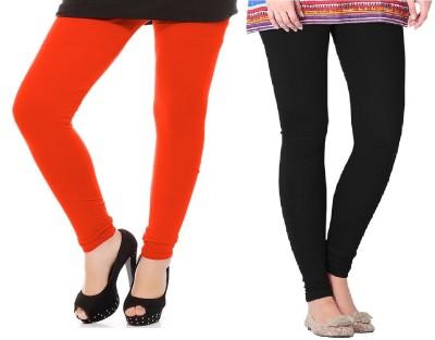 Colors More Women's Orange, Black Leggings