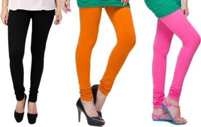 Lienz Women's Black, Orange, Pink Leggings