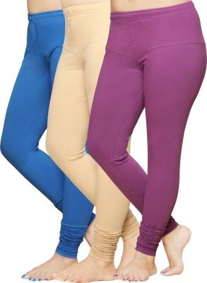 Pomelo Women's White, Blue, Purple Leggings
