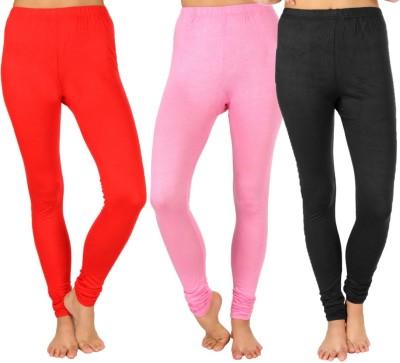 SLS Women's Red, Pink, Black Leggings