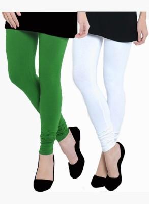 Uzee Women's White, Green Leggings