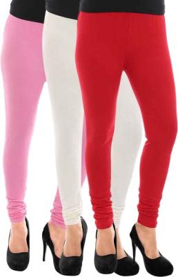 Paulzi Women's Pink, White, Red Leggings