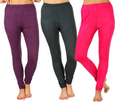 SLS Women's Purple, Dark Green, Pink Leggings