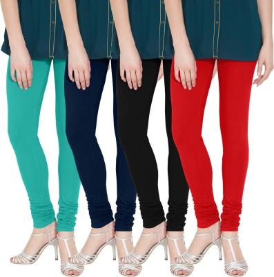 Nicewear Women's Light Blue, Blue, Black, Red Leggings