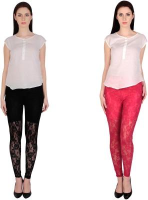 Simrit Women's Black, Pink Leggings