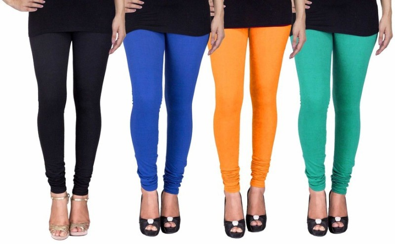 C&S Shopping Gallery Women's Multicolor, Multicolor, Multicolor Leggings(Pack of 4)