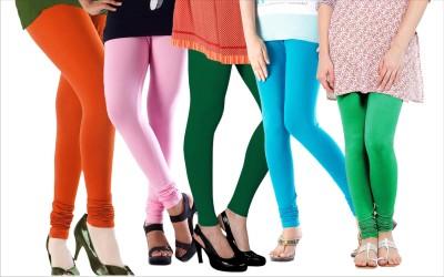 Melisa Women's Orange, Pink, Green, Blue Leggings