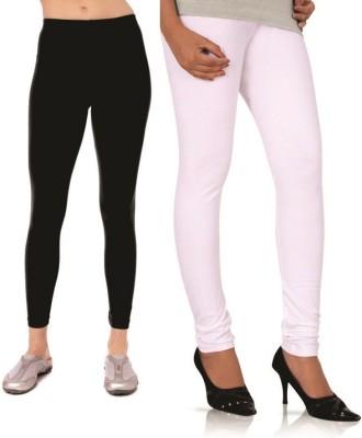 Trendiana Women's Black, White Leggings