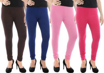 Paulzi Women's Brown, Blue, Pink, Pink Leggings