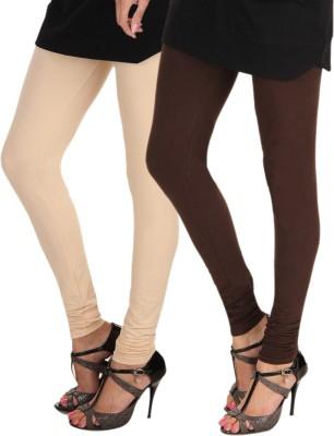 Itnol International Women's Beige, Brown Leggings