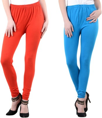 Mynte Women's Red, Blue Leggings