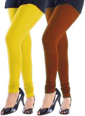 Trusha Dresses Women's Yellow, Orange Leggings