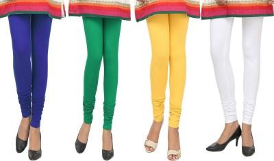 Agrima Fashion Women's Blue, Green, Yellow, White Leggings