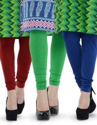 Tjaggies Women's Blue, Light Green, Maroon Leggings
