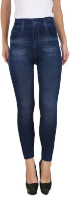 Icable Women,s Blue Jeggings