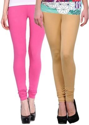 Legemat Girl,s Pink, Beige Leggings