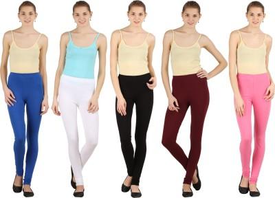 Silvio Women's Brown, Pink, White, Black, Blue Leggings