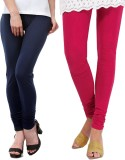 Famaya Women's Dark Blue, Pink Leggings ...