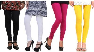 CP Bigbasket Women's Black, White, Pink, Yellow Leggings