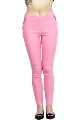 Ahhaaaa Women's Pink Jeggings