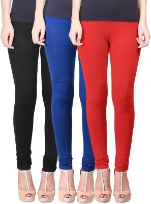 Eshelle Women's Black, Dark Blue, Red Leggings