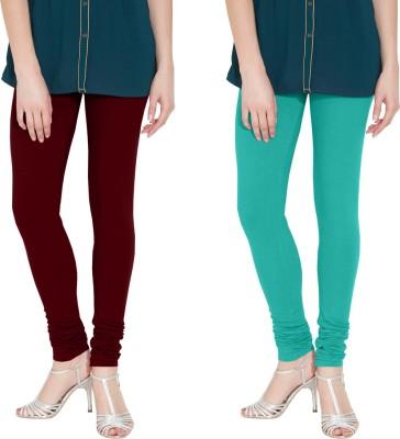 Nicewear Women's Brown, Light Blue Leggings
