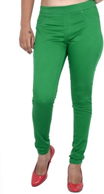 Indiegirl Women's Green Jeggings