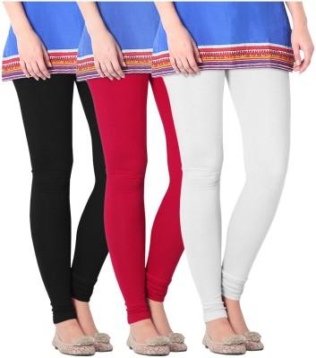 Nice Fit Women's Black, White, Red Leggings