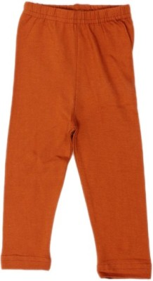 Rhamgold Baby Girl's Orange Leggings