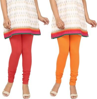 Agrima Fashion Women's Red, Orange Leggings