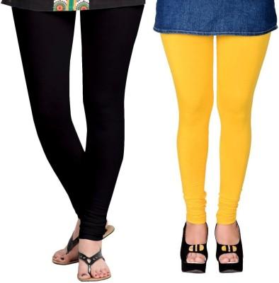 ZACHARIAS Women's Black, Yellow Leggings
