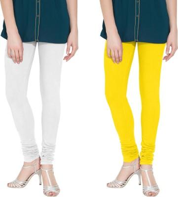 Nicewear Women's White, Yellow Leggings