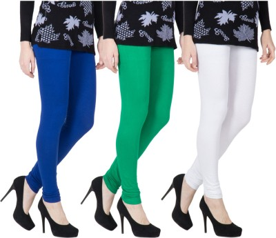 VERMELLO Women's Dark Blue, Green, White Leggings