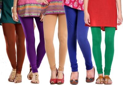 Rashi Women's Brown, Purple, Beige, Blue, Green Leggings
