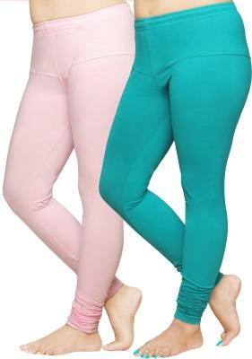 Pomelo Women's Pink, Green Leggings