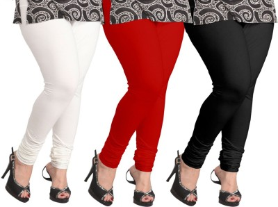 Ambitious Women's White, Black, Red Leggings